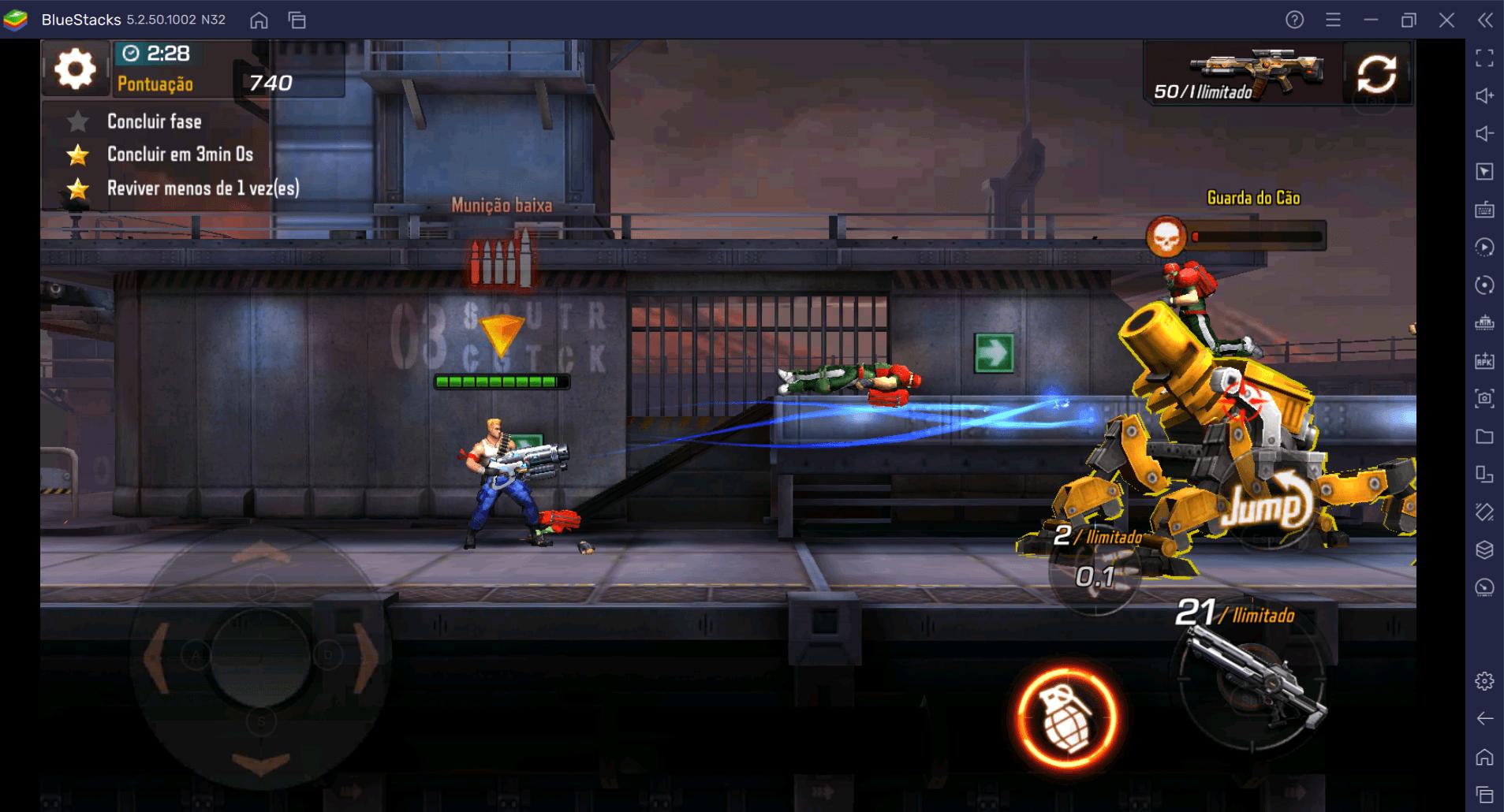 Como jogar com os primeiros personagens de Contra Returns