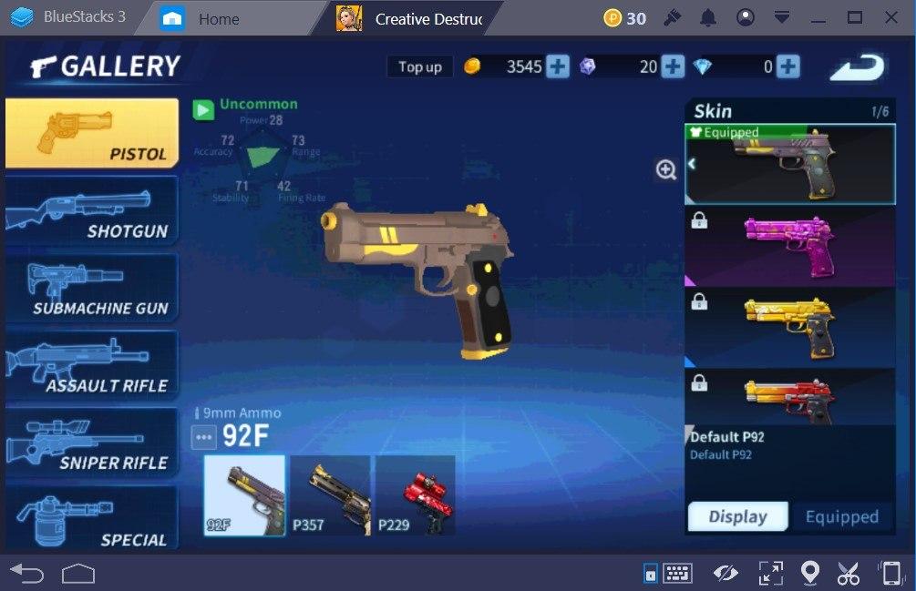 Creative Destruction Weapons Guide