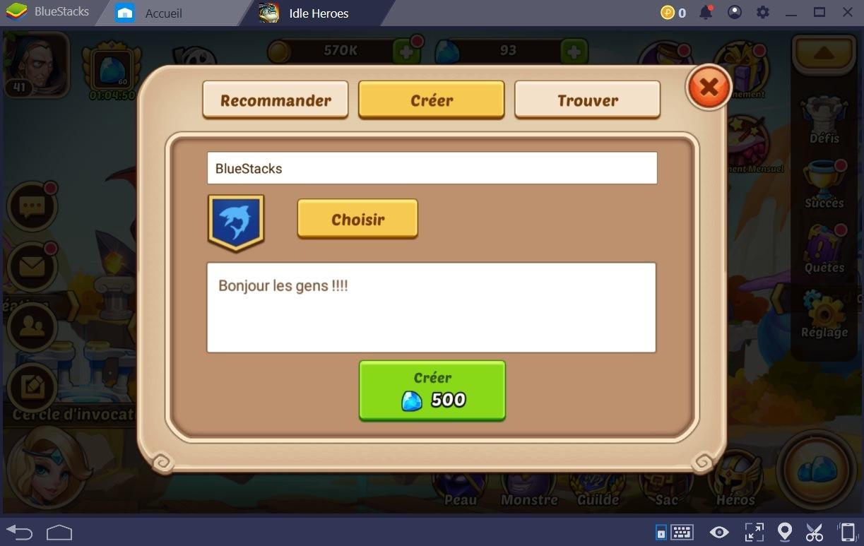 Idle Heroes : Du contenu de jeu bonus grâce aux guildes
