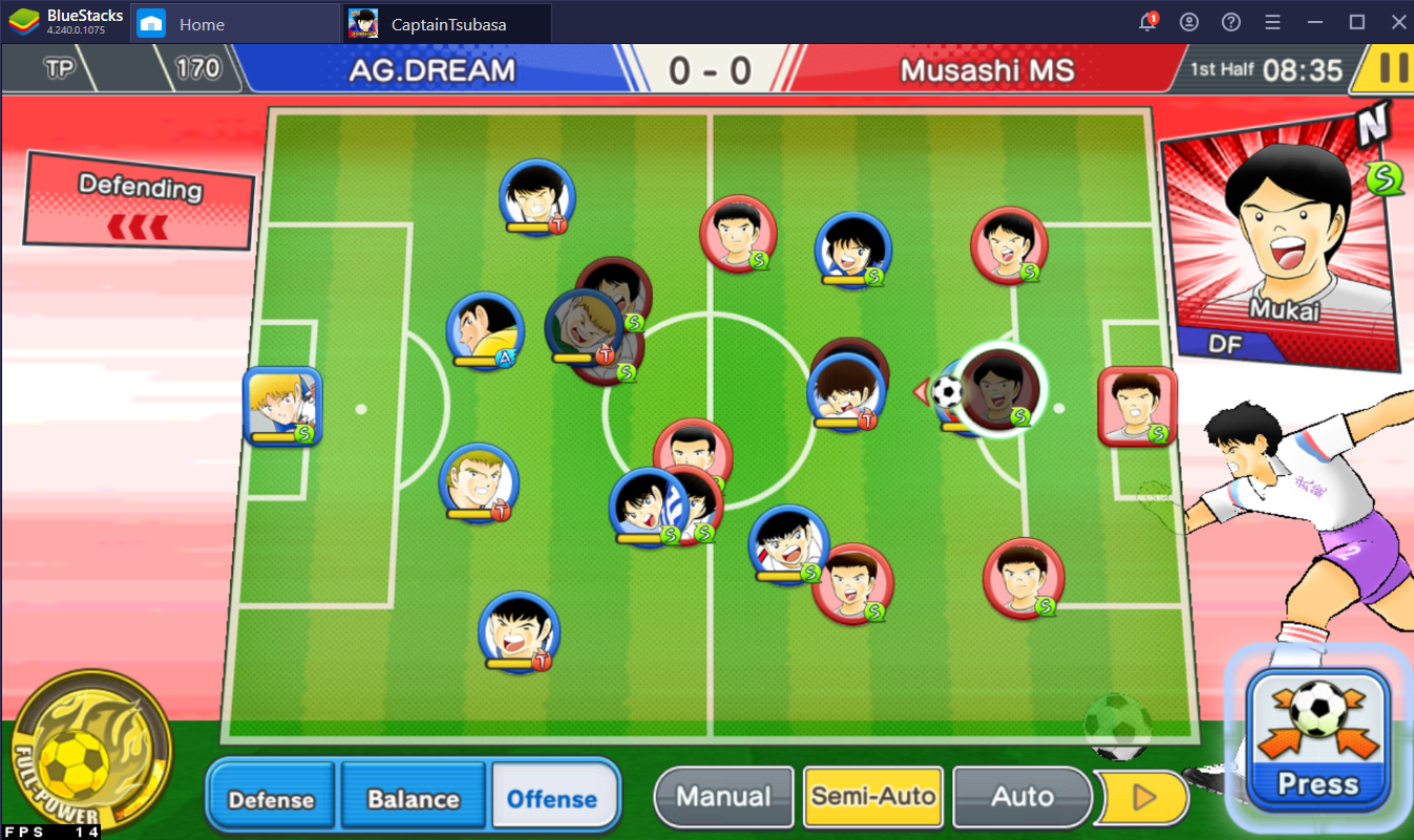 A Guide to Matches in Captain Tsubasa: Dream Team on PC