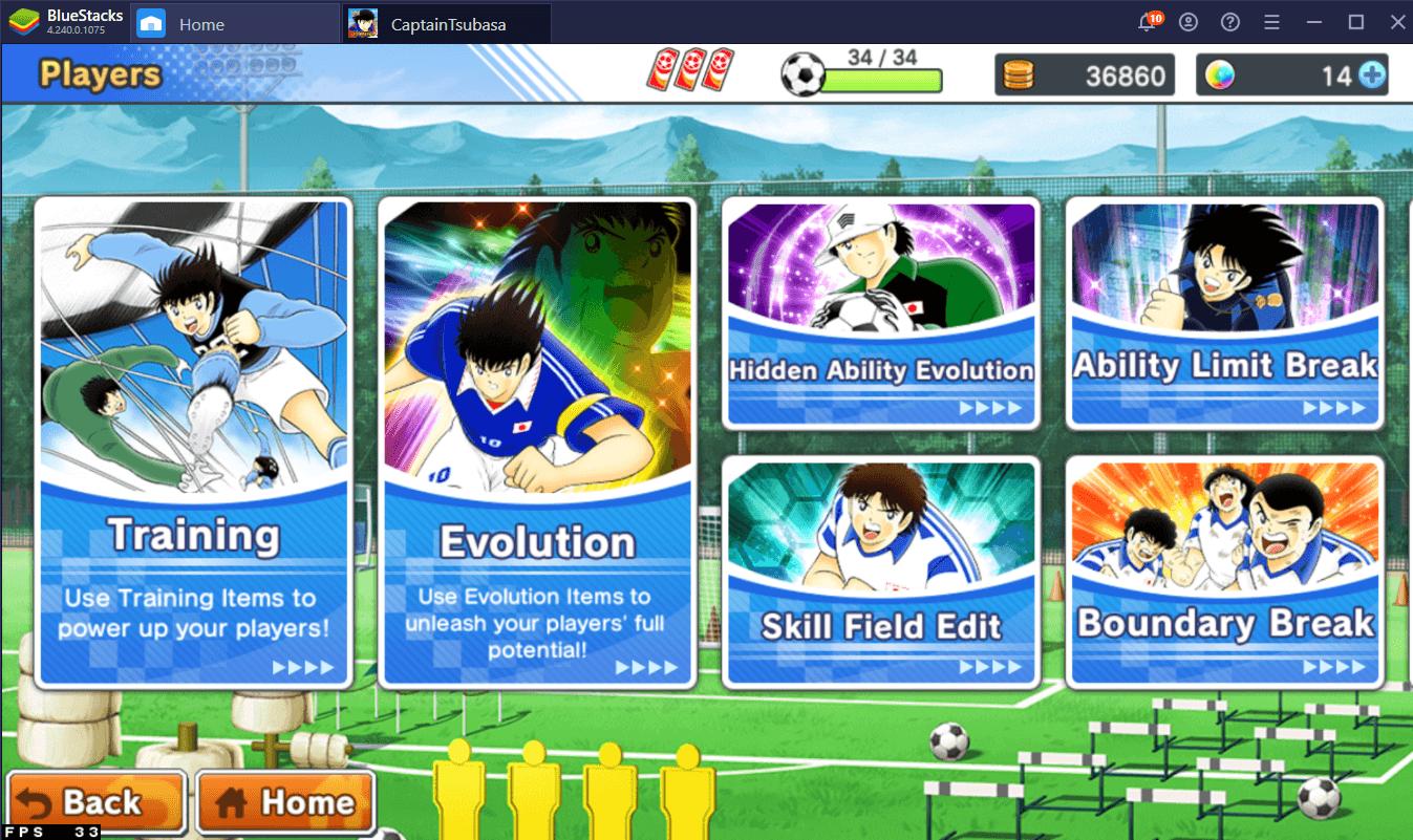 تحسين فريقك في لعبة Captain Tsubasa: Dream Team على الكمبيوتر الشخصي