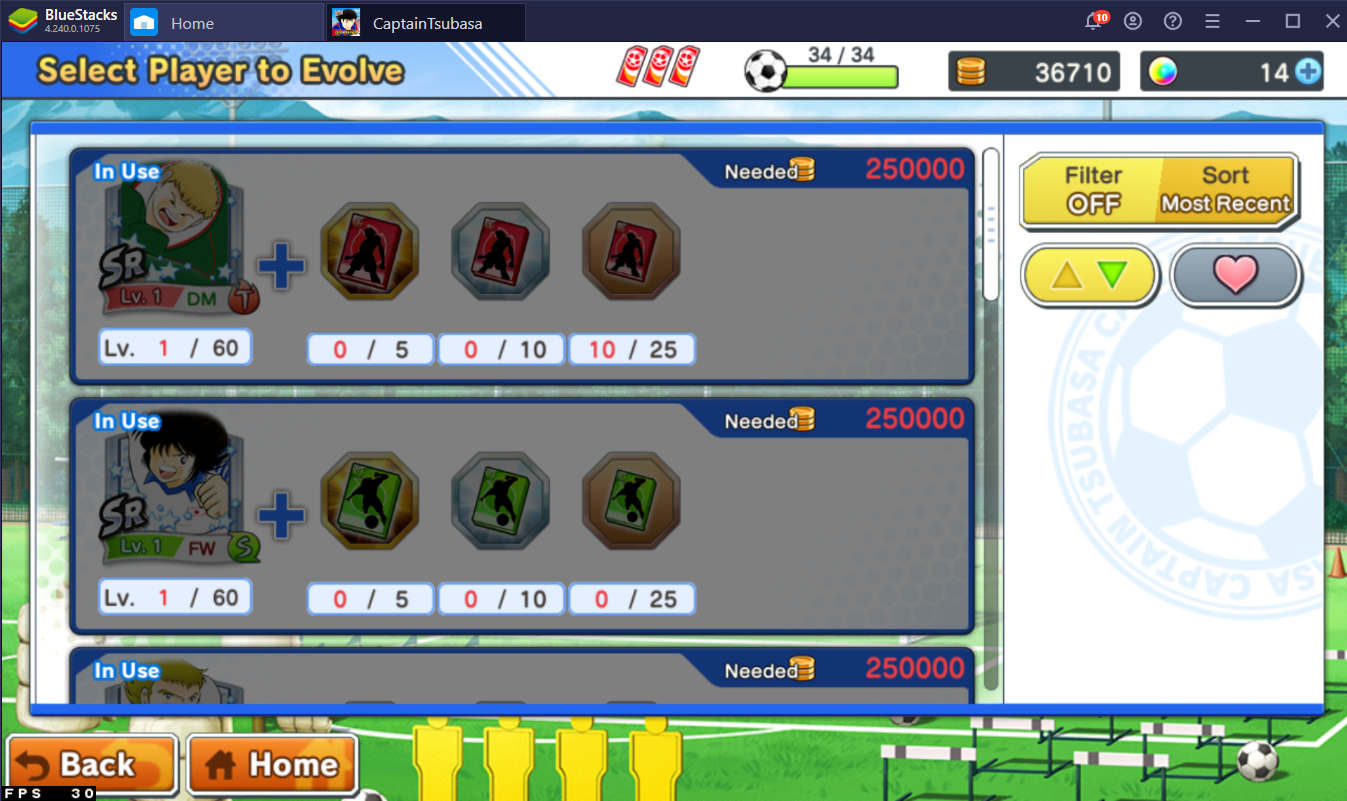 Improving Your Team in Captain Tsubasa: Dream Team on PC