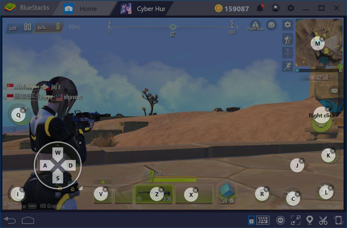 Thiết lập Game Controls khi chơi Cyber Hunter với BlueStacks