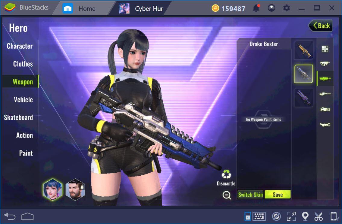 Tổng quan các loại vũ khí trong game Cyber Hunter