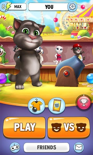 Play Talking Tom Bubble Shooter on PC 5