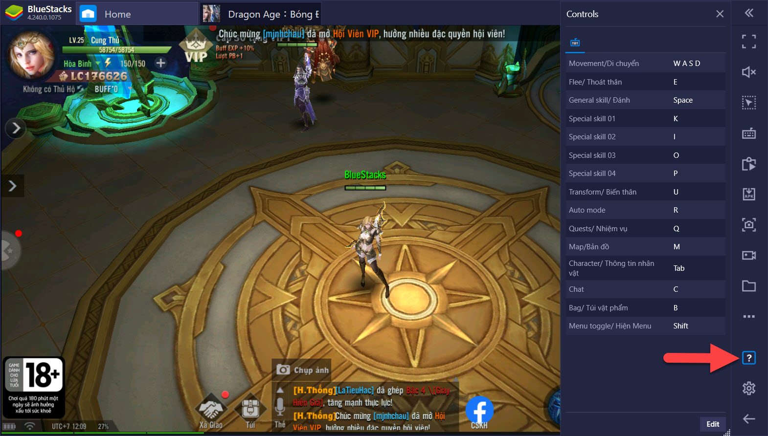 Cách tối ưu điều khiển khi chơi Dragon Age: Bóng Đêm Thức Tỉnh với BlueStacks