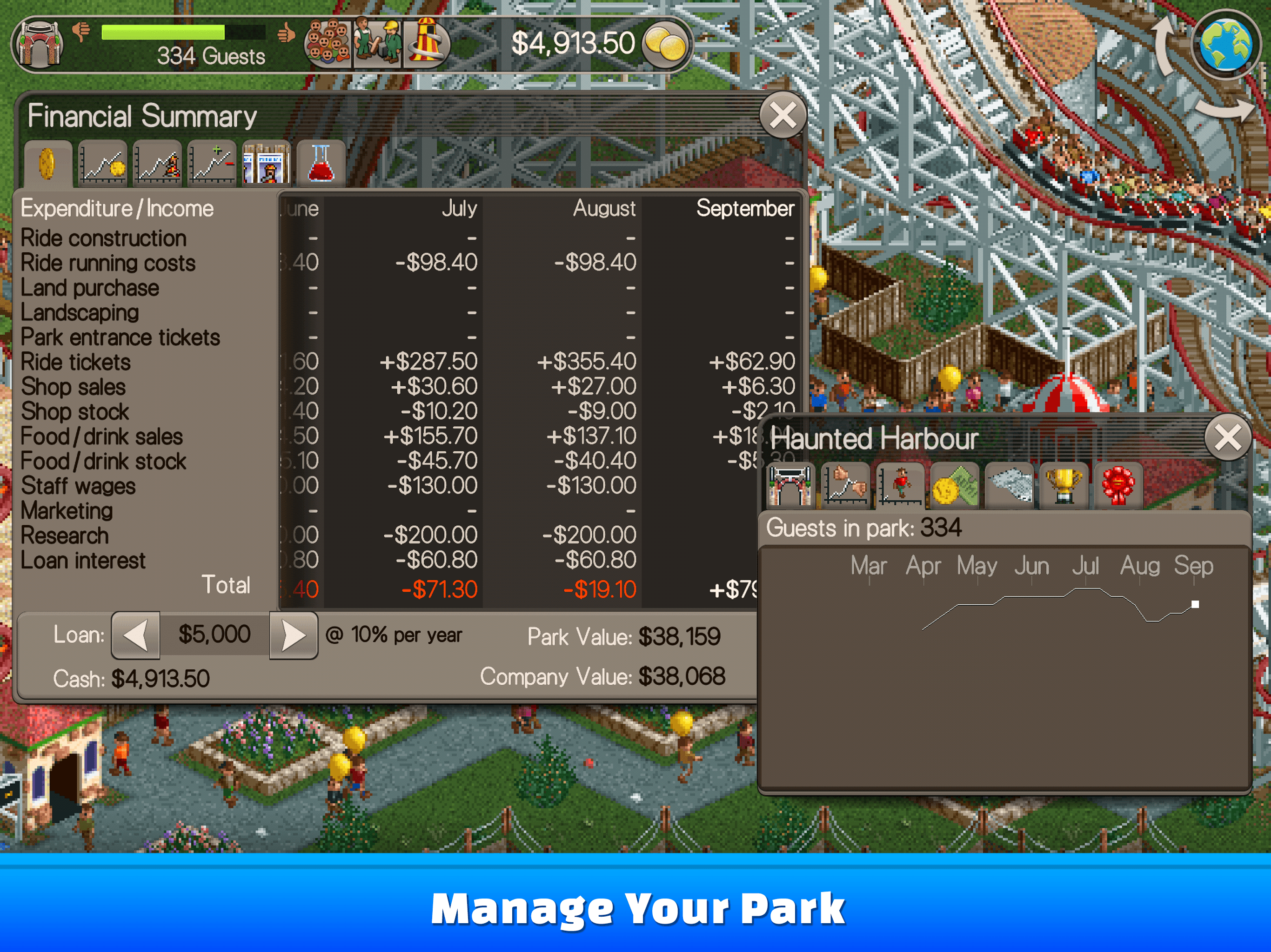 roller coaster tycoon free download full game
