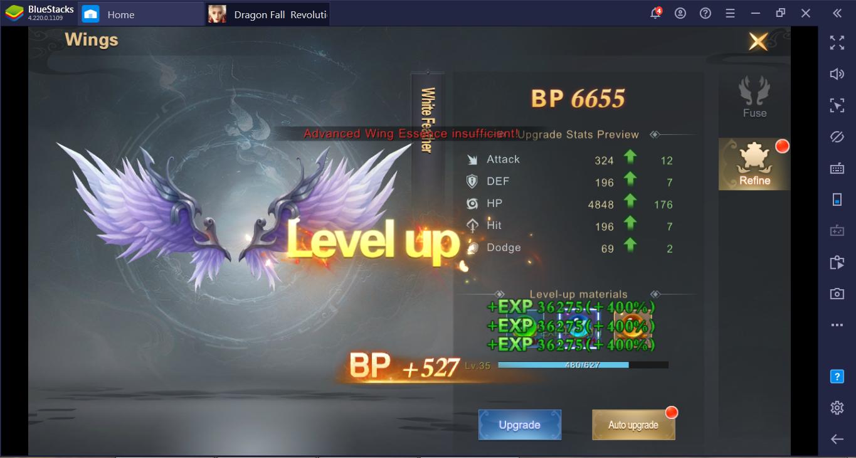 Bagaimana Meningkatkan BP Dengan Cepat untuk Pemula di Dragon Fall: Revolution?