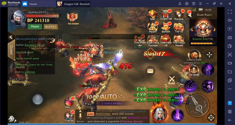 Tips yang Harus Diketahui Pemain Baru untuk Menaikkan Level Dengan Cepat di Dragon Fall: Revolution