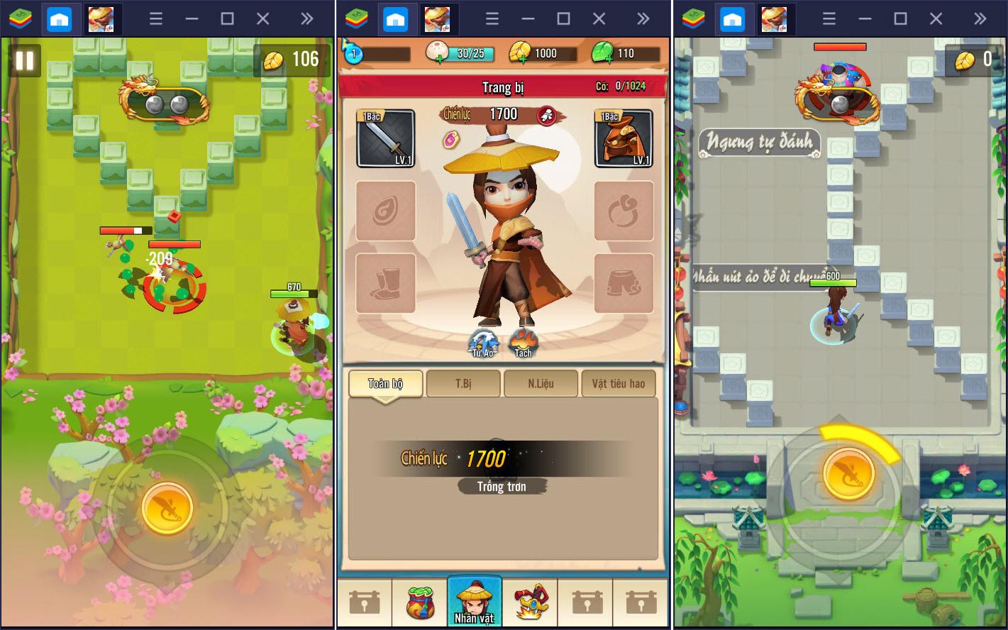 Cùng BlueStacks khám phá Đại Hiệp Piu Piu Piu, game màn hình dọc có lối chơi độc đáo