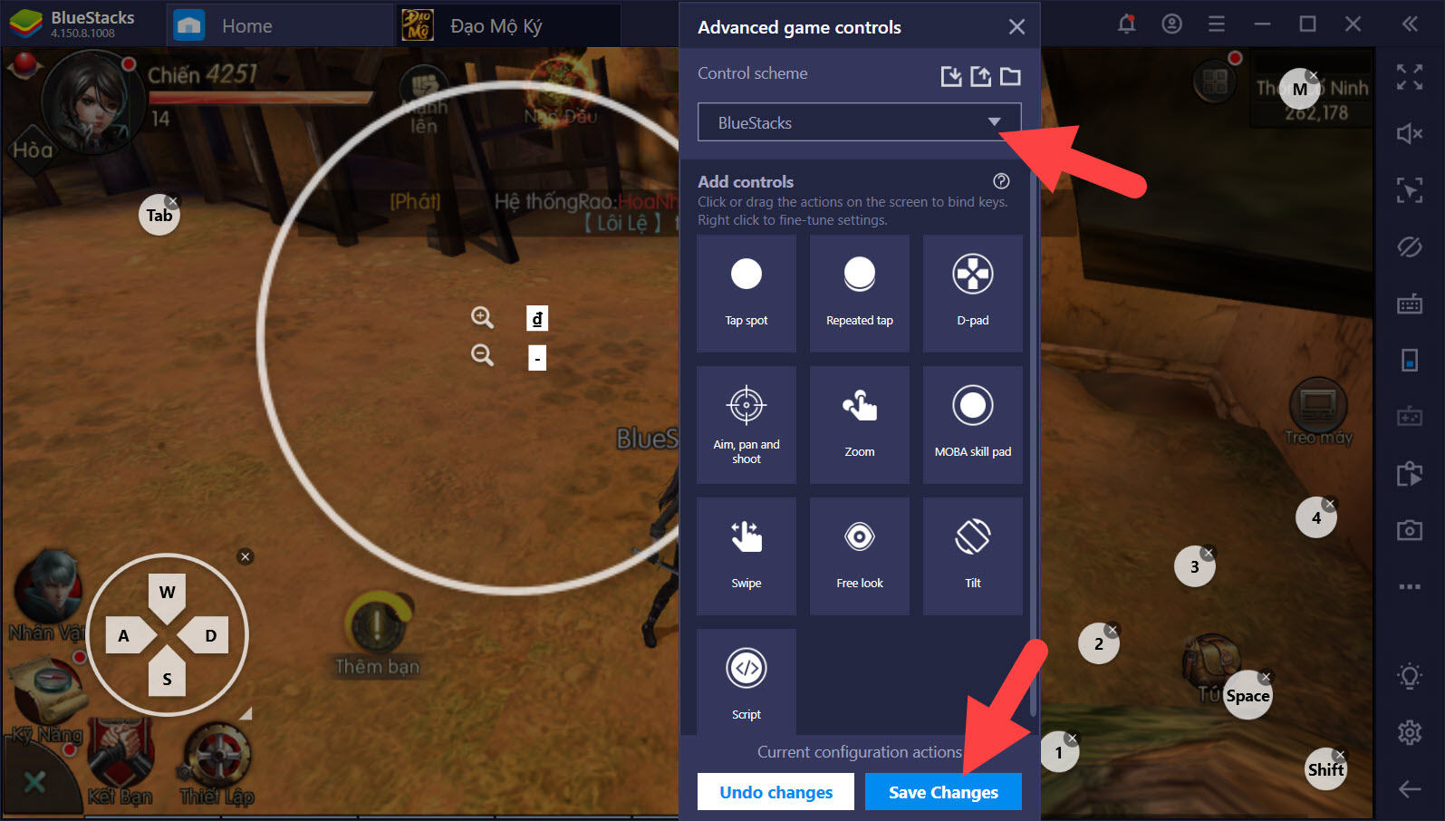 Tối ưu điều khiển với Game Controls khi chơi Đạo Mộ Ký với BlueStacks