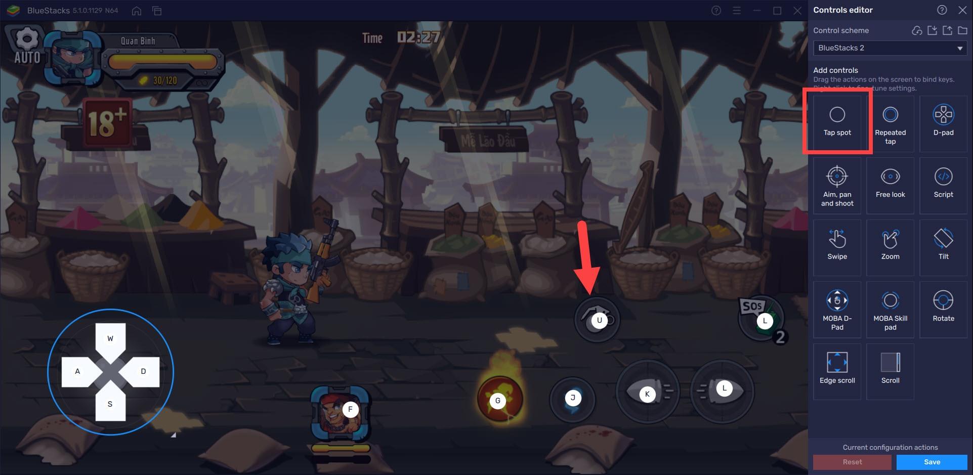 Cách sử dụng tính năng tối ưu gameplay Đột Kích 3Q