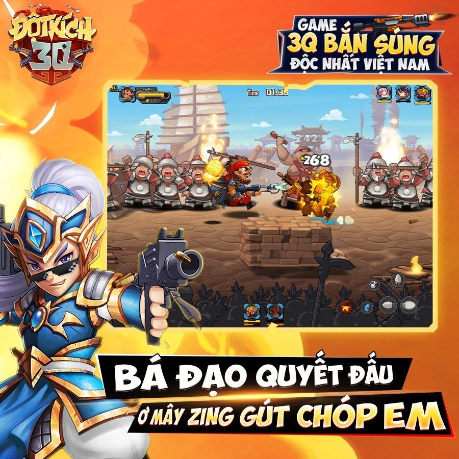 Đột Kích 3Q: Game Tam quốc theo phong cách… bắn súng