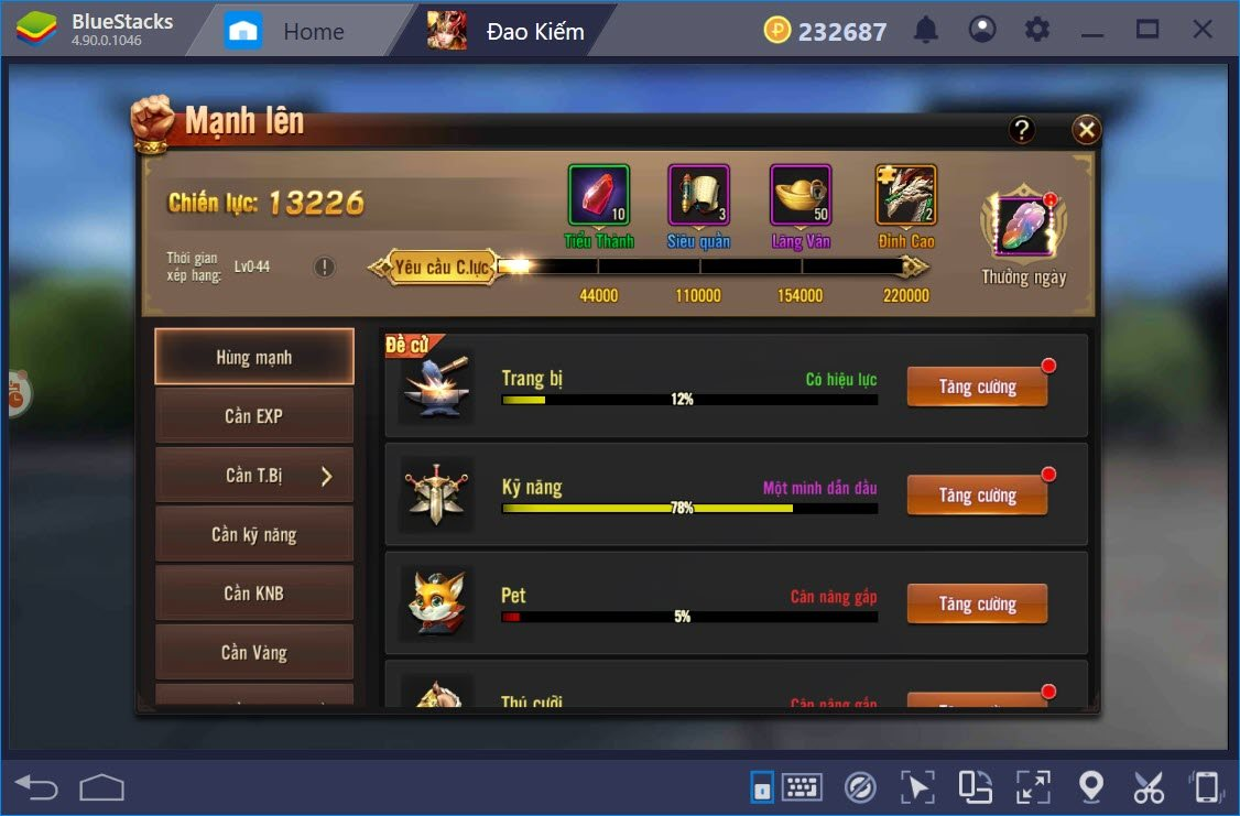 Lưu ý cho người mới chơi Đao Phong Giang Hồ