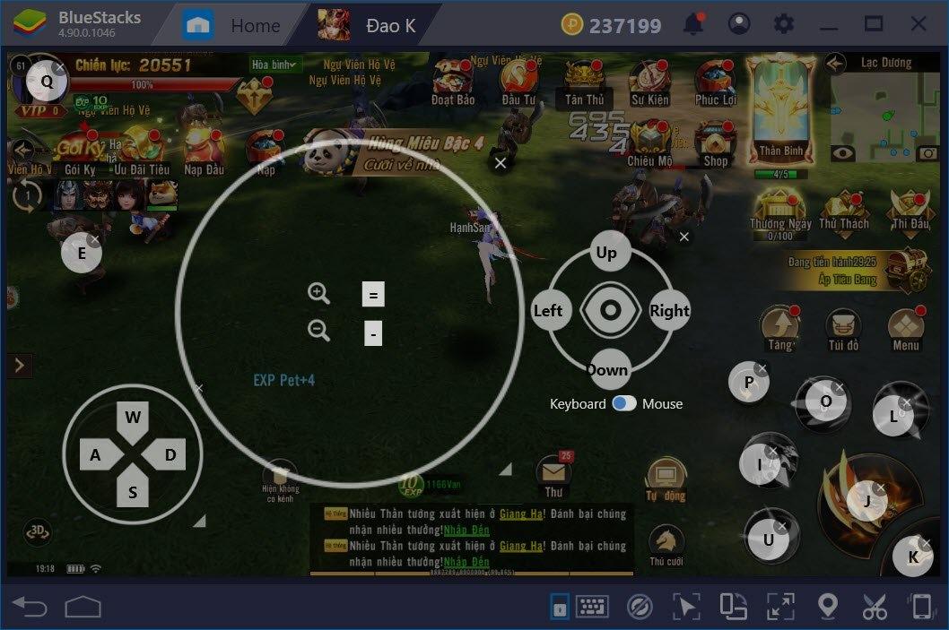 Thiết lập Game Controls khi chơi Đao Phong Giang Hồ với BlueStacks