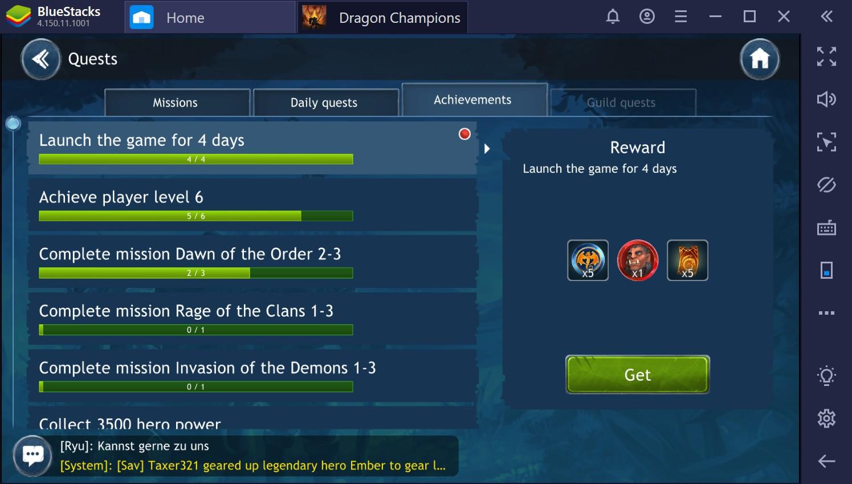 Dragon Champions: dicas e truques para evoluir rapidamente