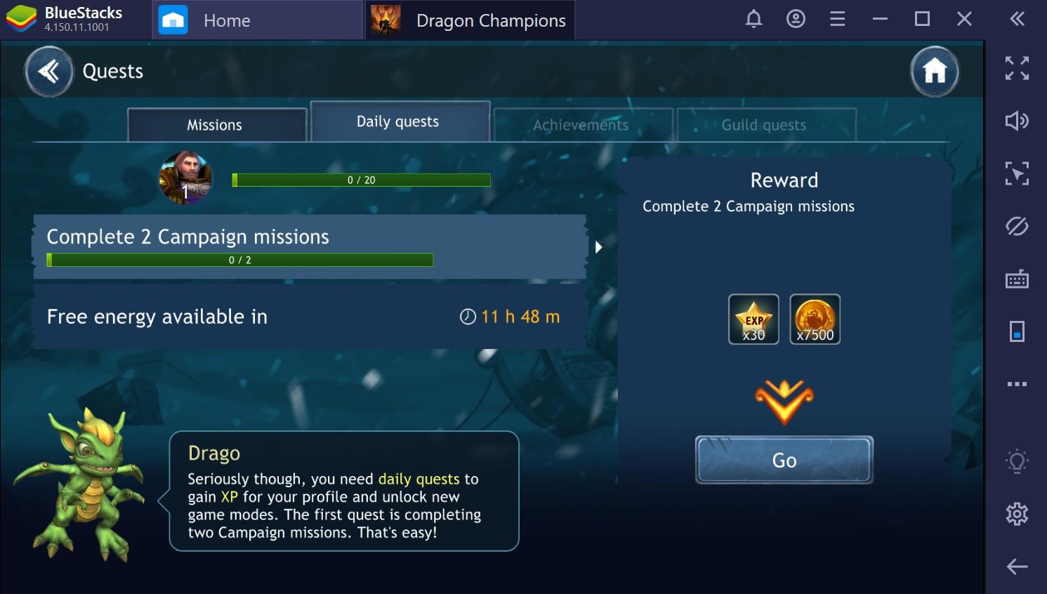 Dragon Champions: como jogar no PC com o BlueStacks