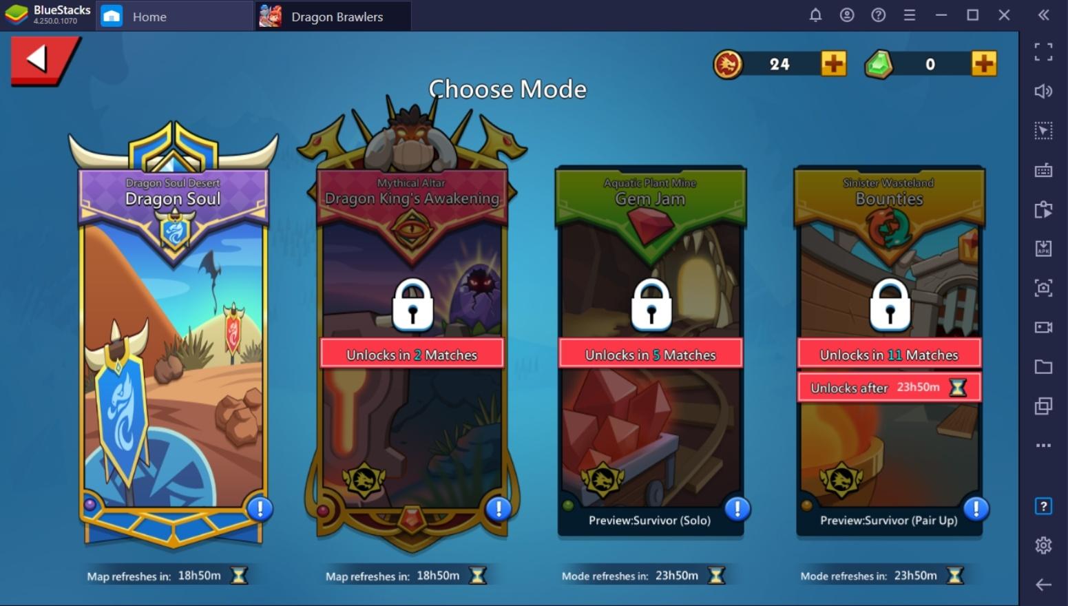 Explaining Dragon Brawler Game Modes