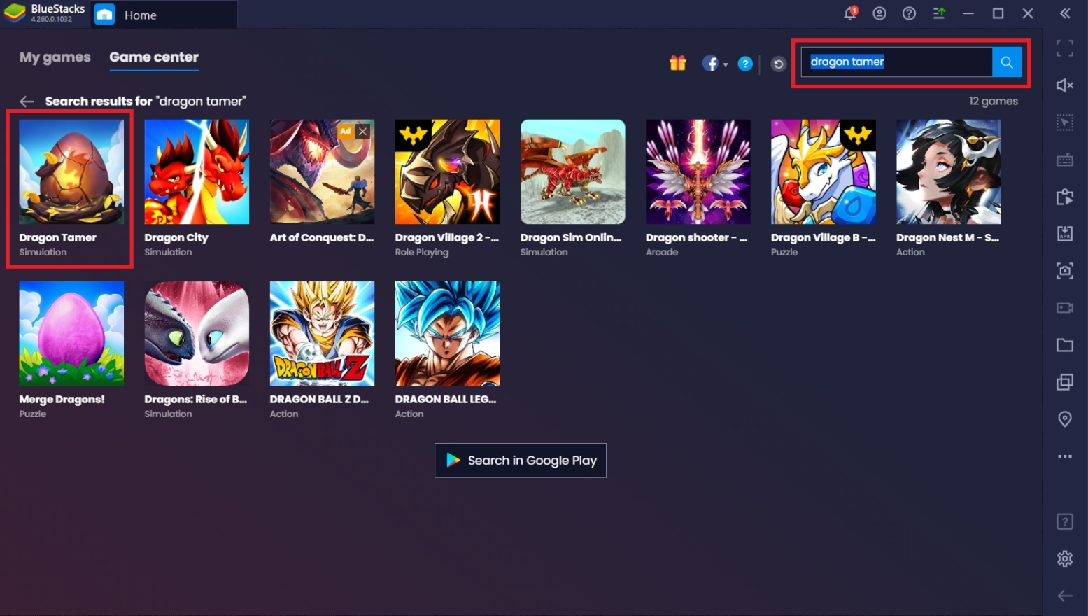 How to Play Dragon Tamer on PC with BlueStacks