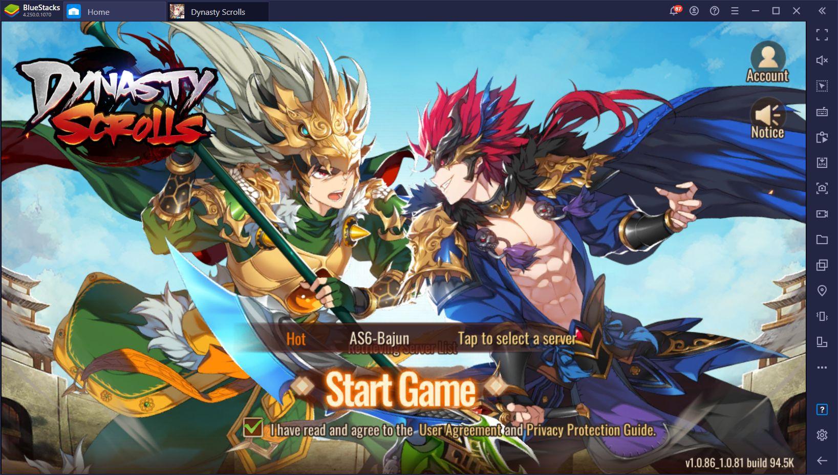 Dynasty Scrolls no PC – Instale e jogue esse RPG Idle no seu computador com o BlueStacks