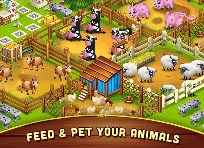 เล่น ฟาร์มขนาดใหญ่เล็ก ๆ น้อย ๆ on PC 9