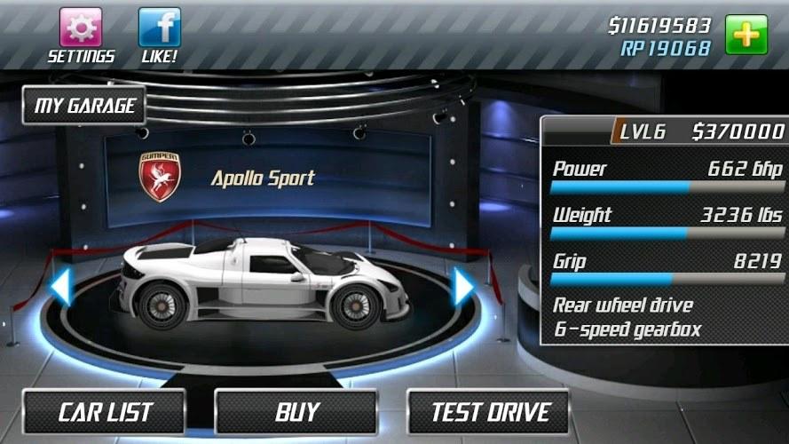 drag racer v3 para xo 1.5