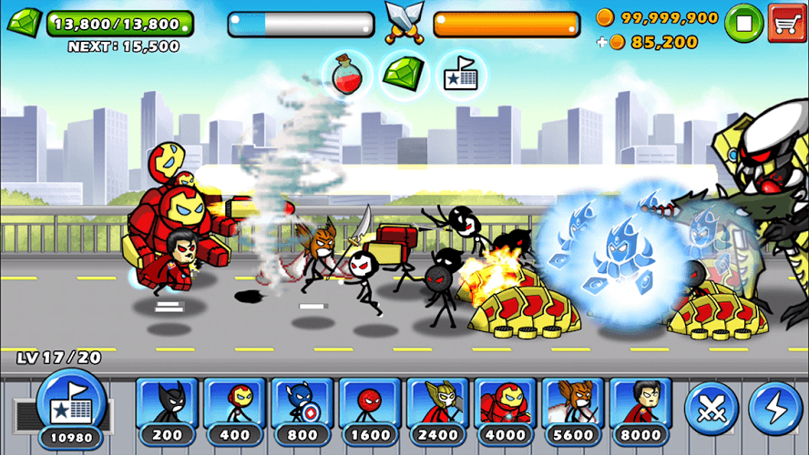 Chơi HERO WARS: Super Stickman Defense on PC 5