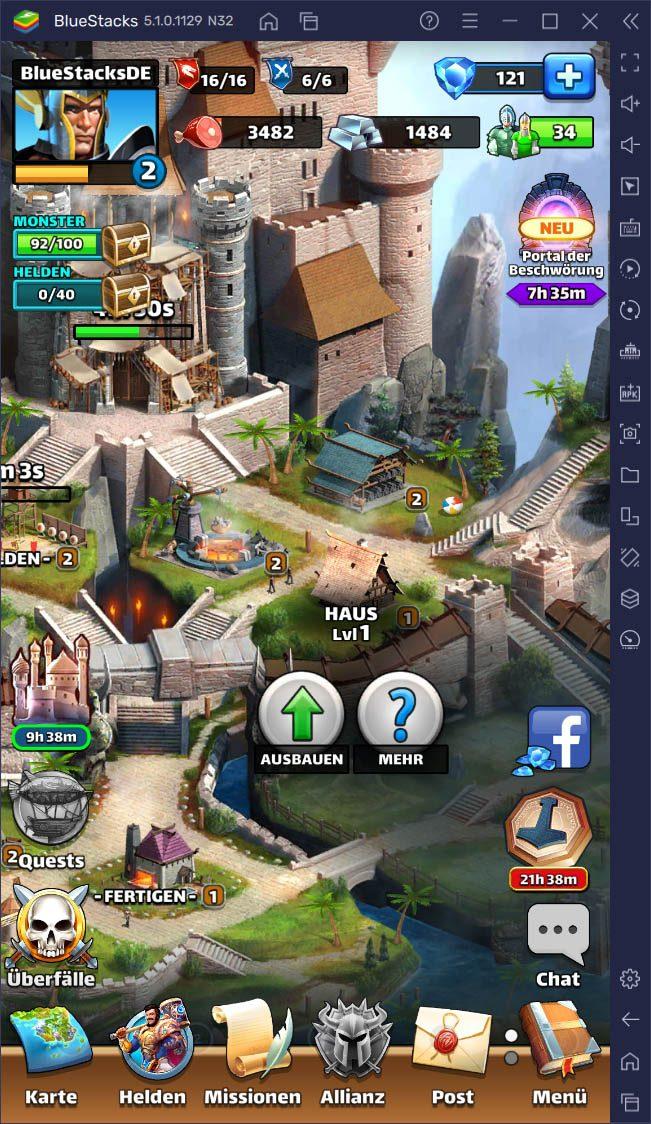 Empires & Puzzles: Der komplette Leitfaden zu deiner Basis