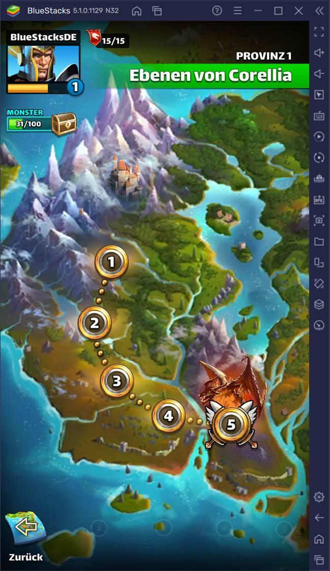 Empires & Puzzles: Ressourcen- & Farming-Leitfaden