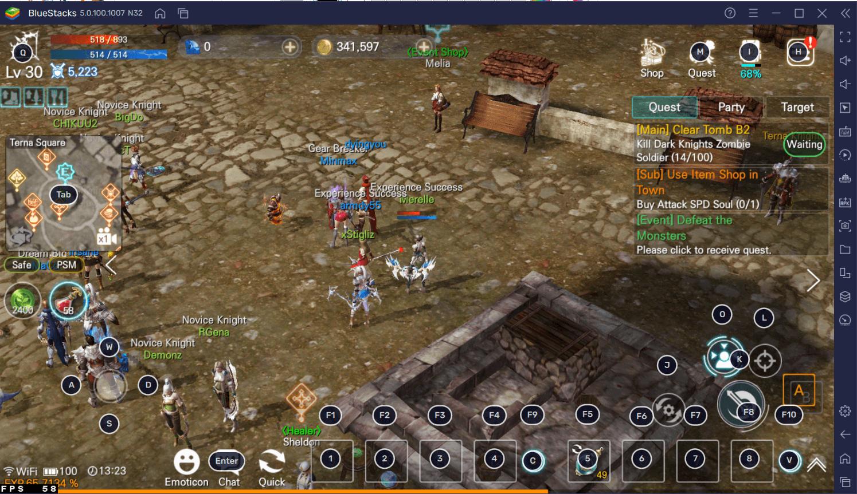 Panduan Bermain MMORPG Mobile EOS RED di PC Menggunakan Aplikasi BlueStacks