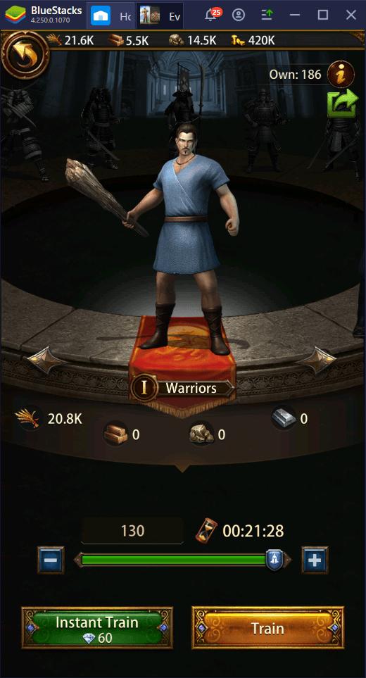 كن إمبراطورًا – كيفيّة لعب لعبة Evony: The King's Return على الكمبيوتر باستخدام محاكي BlueStacks