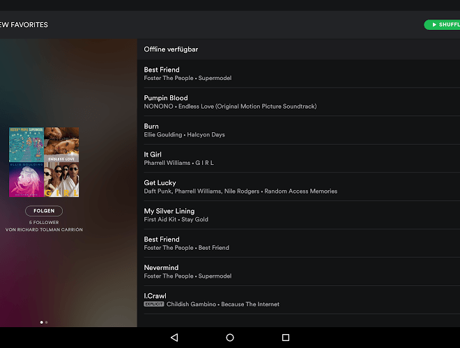Spielen Spotify android app on pc 8