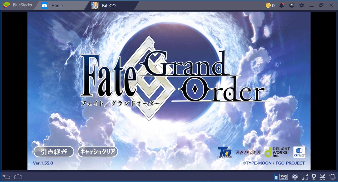 BlueStacksを使ってPC上でFate/Grand Orderをプレイ