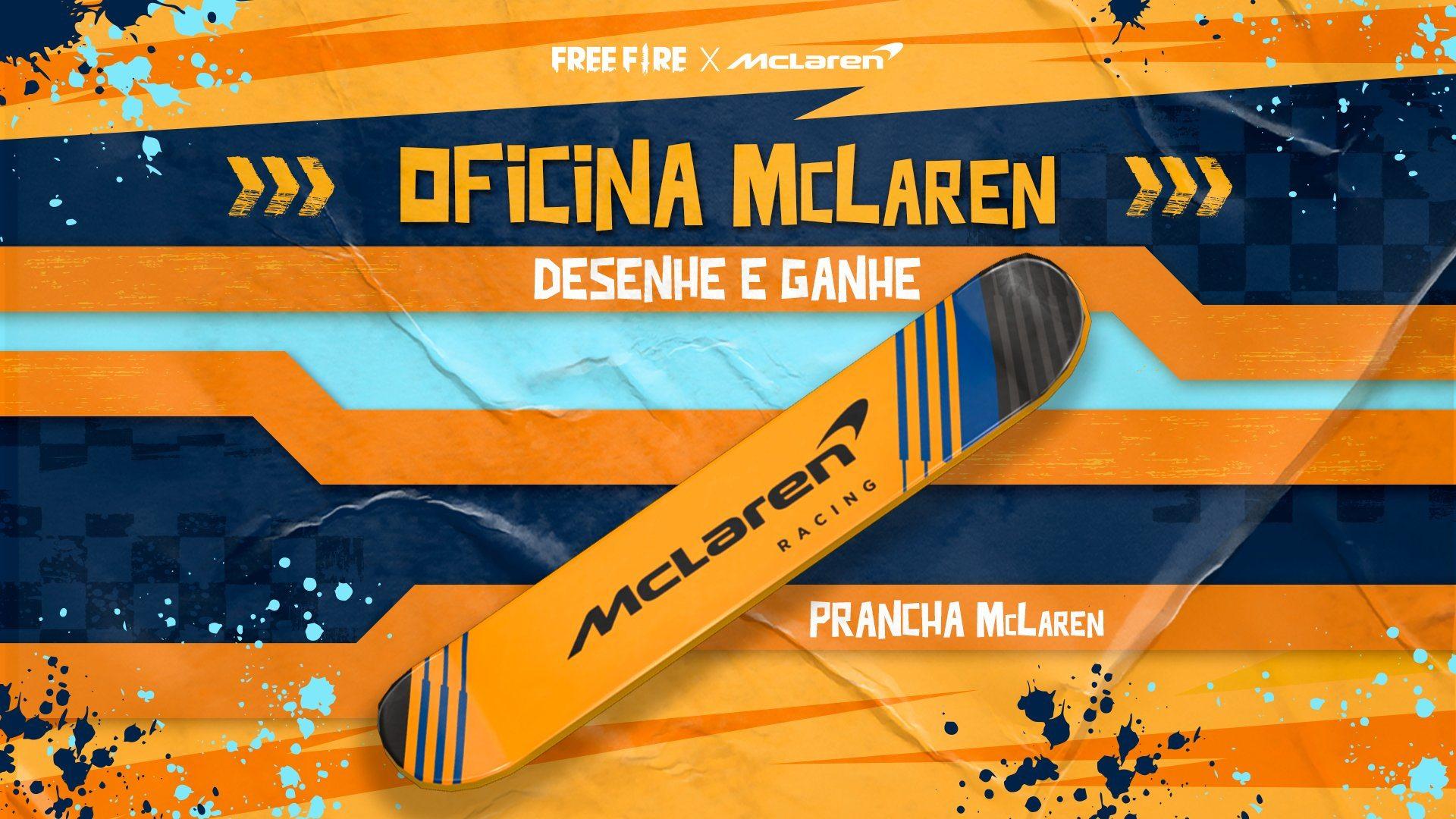 Parceria entre Garena Free Fire e McLaren premia jogadores até o dia 4 de agosto
