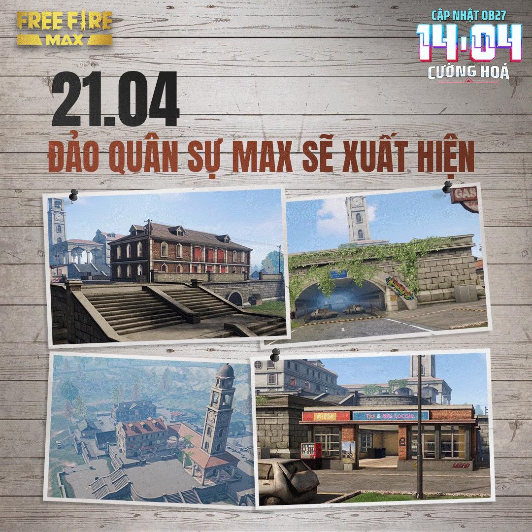 Garena Free Fire MAX trình làng bản đồ Đảo Quân Sự MAX