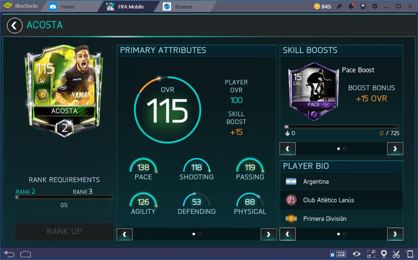 FIFA Mobile: 가장 빠른 선수 Top 10
