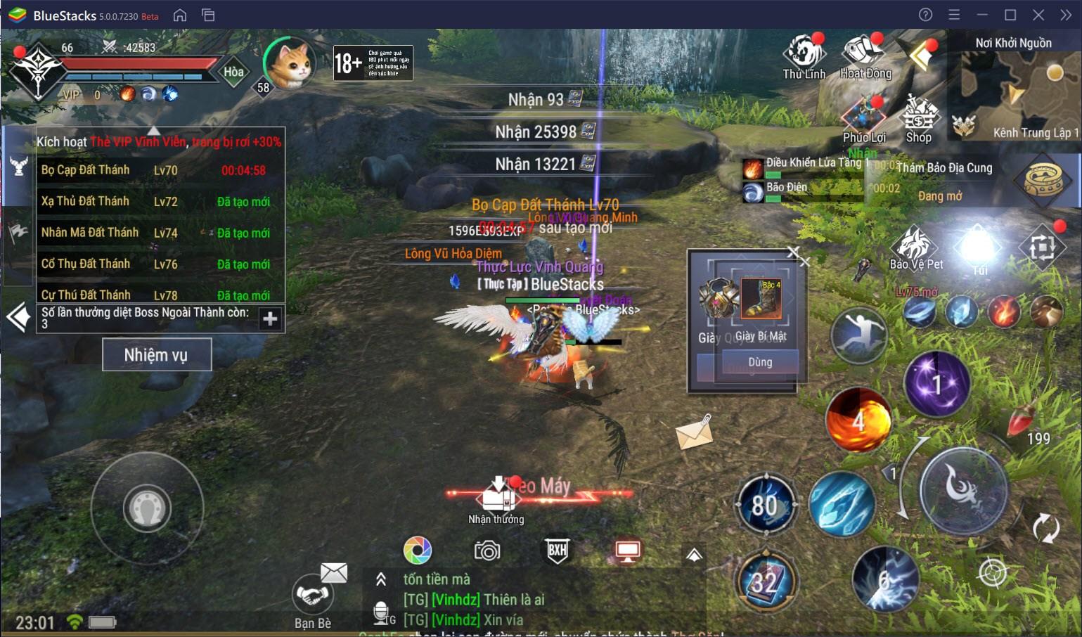 Hướng dẫn cày cấp nhanh cho Forsaken World: Thần Ma Đại Lục