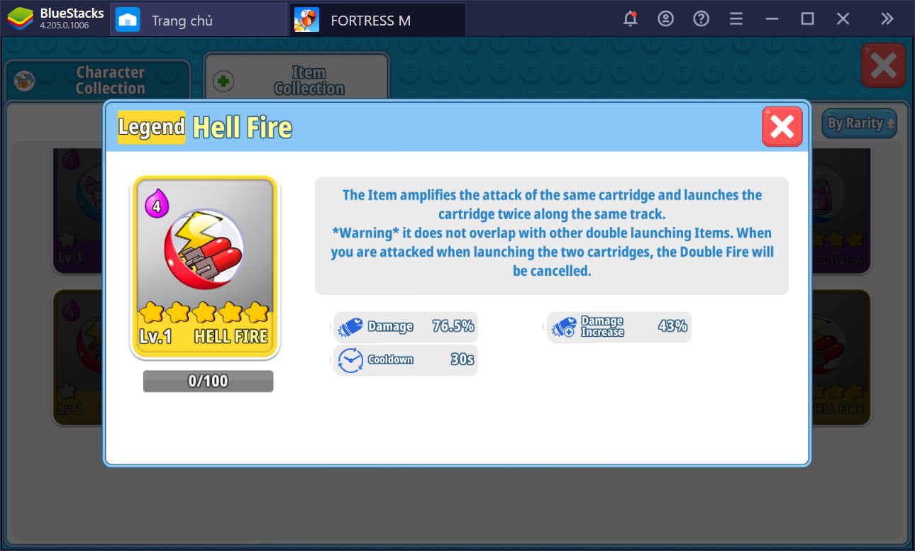 Tổng quan về các item hỗ trợ trong FortressM