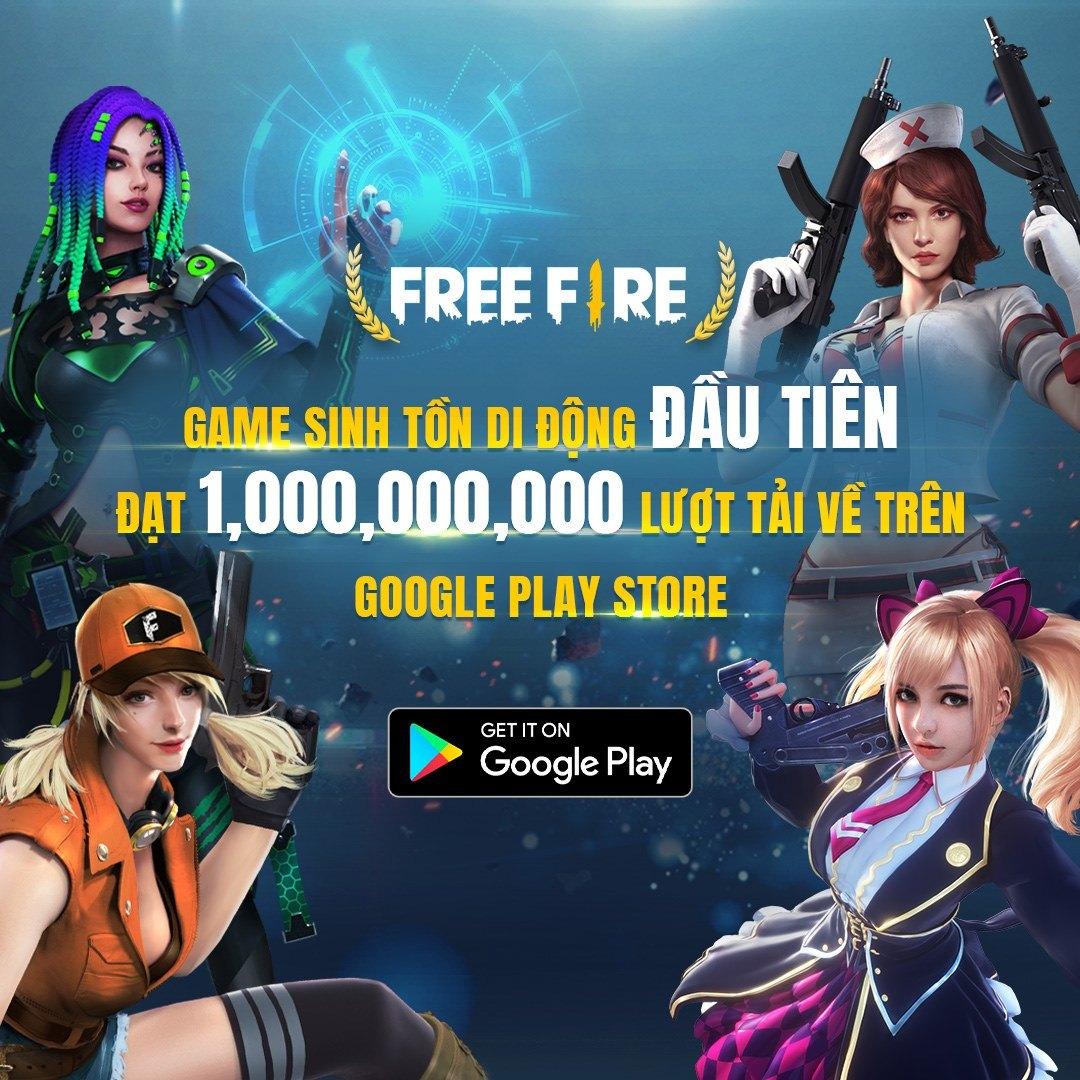 Garena Free Fire chính thức cán mốc 1 tỉ lượt tải trên Google Play Store
