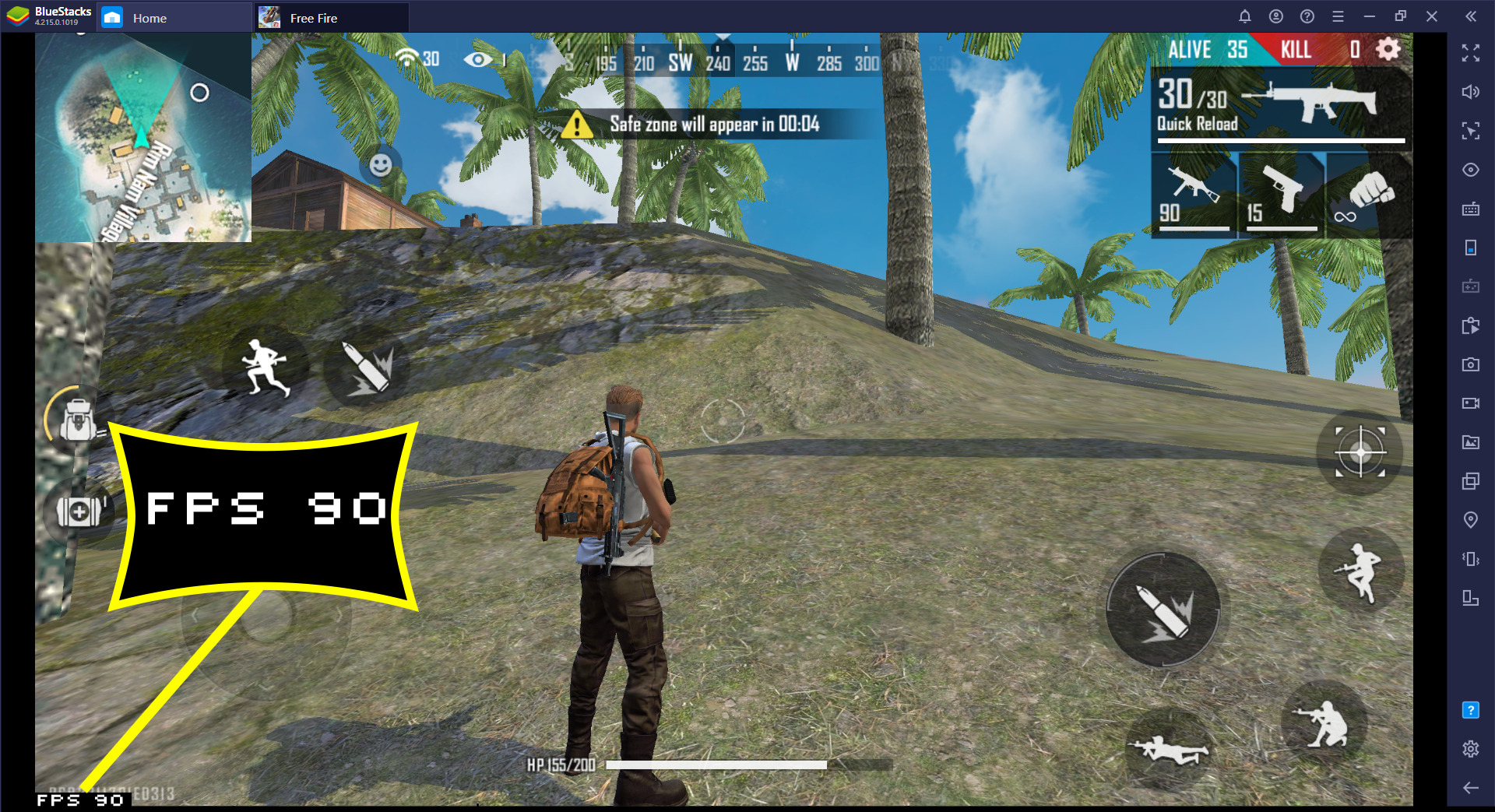 Tính năng mới: Kích hoạt 90 FPS trong Garena Free Fire với BlueStacks