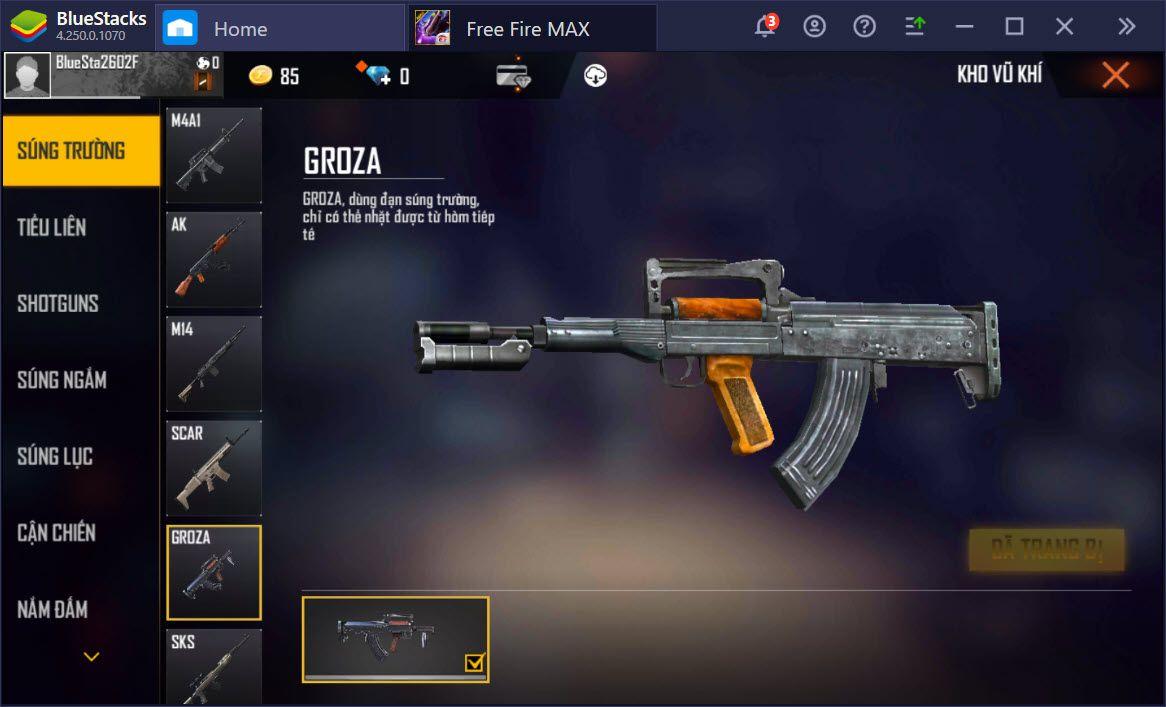 Garena Free Fire Max: Top vũ khí nên có khi chơi Squad