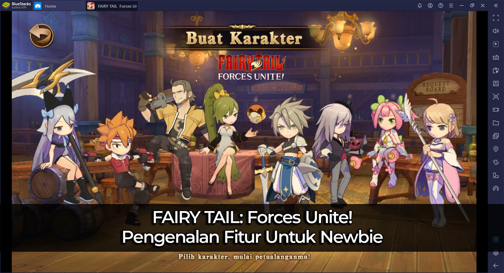 FAIRY TAIL: Forces Unite! Pengenalan Fitur Untuk Newbie