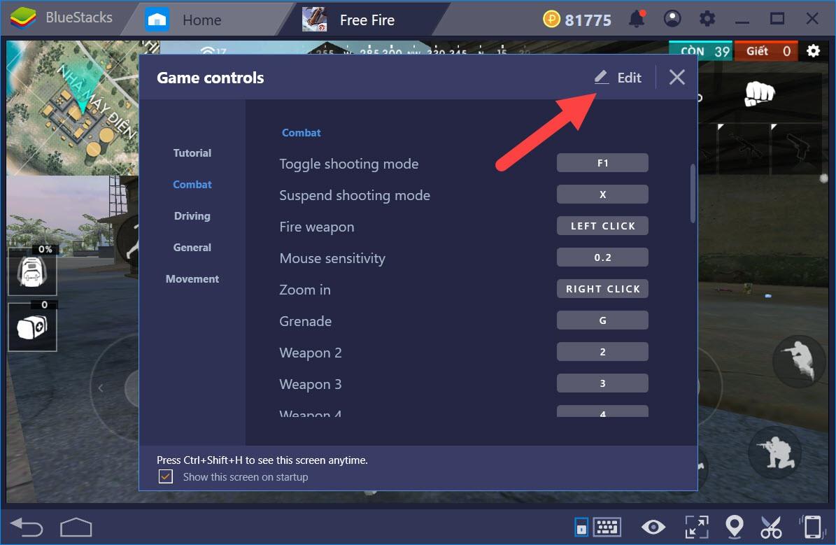 Garena Free Fire: Thiết lập gán phím, tạo combo khi chơi với BlueStacks