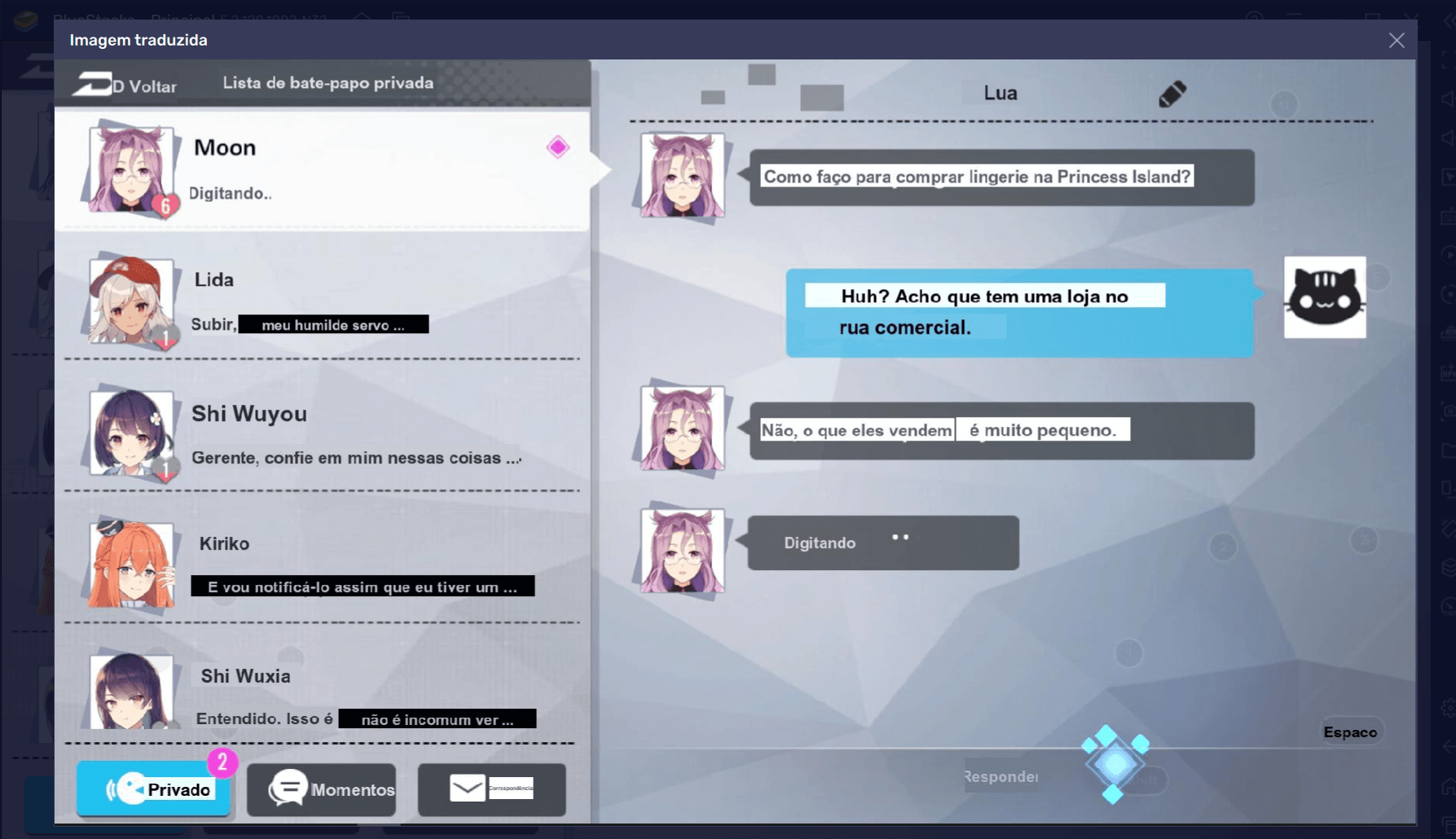 Aumente pontos de afinidade com personagens de Girl Cafe Gun e desbloqueie atributos exclusivos