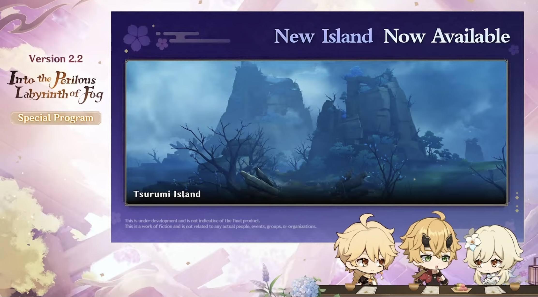 Genshin Impact: Details on the New Tsurumi Island