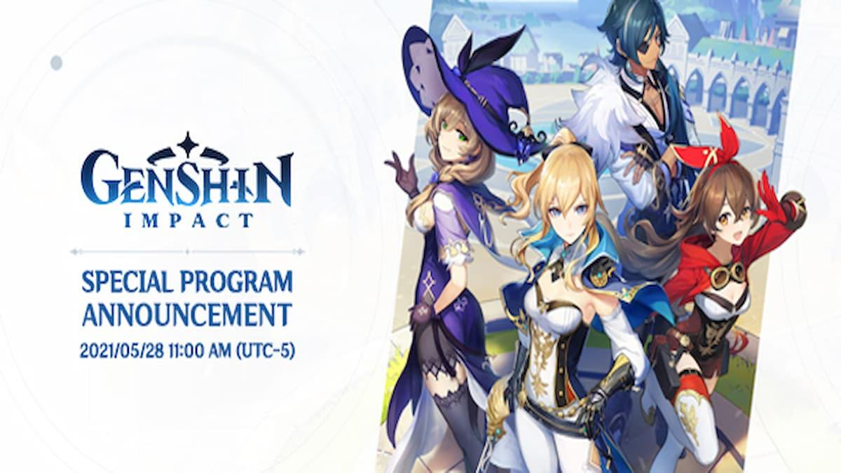Genshin Impact update 1.6 dev notes reveal new changes and special program date