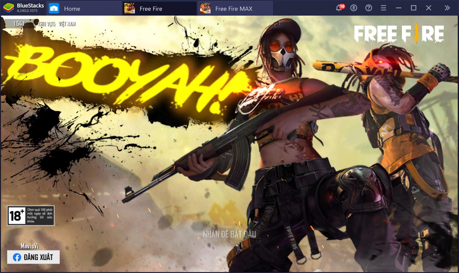 So sánh đồ họa Garena Free Fire Max và phiên bản thường trên BlueStacks