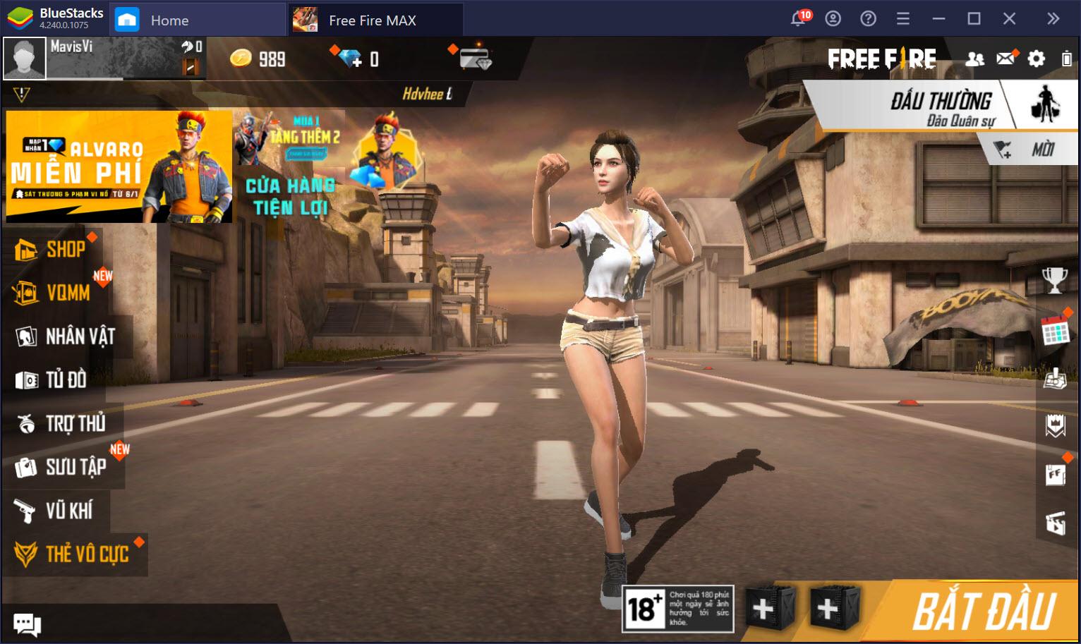 Trải nghiệm đồ họa cao cấp Garena Free Fire Max trên PC với BlueStacks