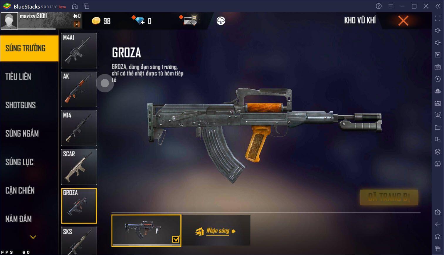 Mẹo sử dụng vũ khí hiệu quả trong Garena Free Fire Max