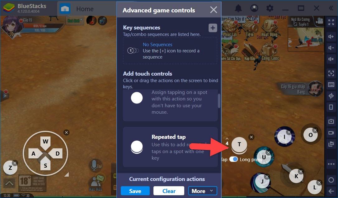 Cách thiết lập Game Controls tối ưu cho Giang Hồ Ngoại Truyện